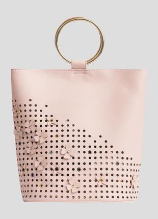 Сумка шоппер мешок с кольцом перфорация шикарная orsay