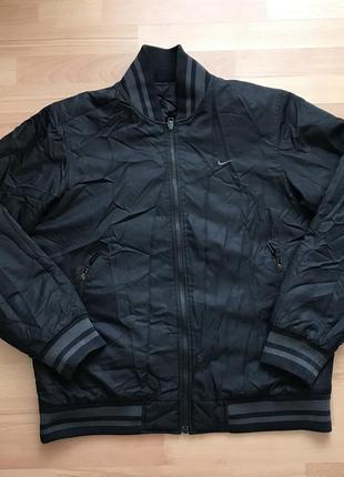Бомбер курточка найк nike тёплая двухсторонняя