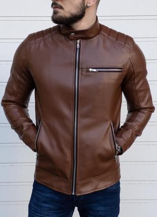 Мужская куртка кожанка