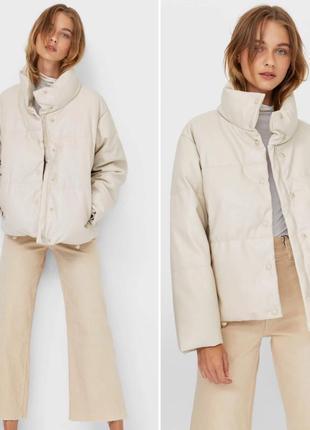 Куртка-пуховик из искусственной кожи