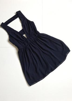 Красивое синее платье под шифон asos