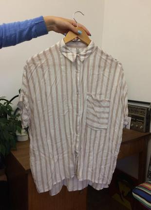 Рубашка с короткими рукавами  stradovarius