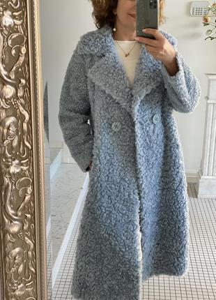 Натуральная шуба меховое пальто меринос 100%