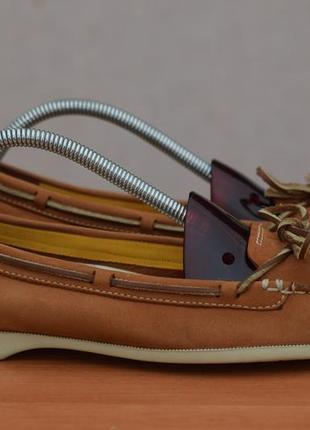Коричневые кожаные мокасины, балетки, туфли timberland, 40 размер. оригинал