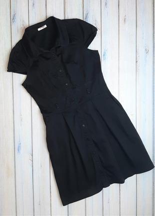 Стильное черное строгое приталенное платье orsay, размер 44 - 46