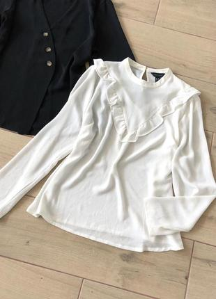 Белая рубашка- блуза