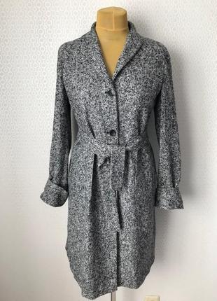 Тонкое пальто (альтернатива плащу) альпака 95% , италия, размер 44, укр 46-48
