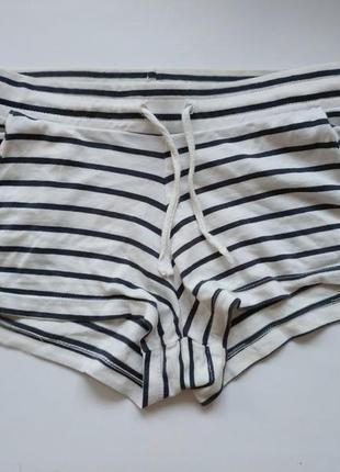 H&m шорты в полоску белые шорти для пилона тверка пол денса пижамные пижама фирменные