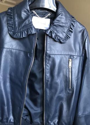 Бомбер кожаный,куртка кожаная max&co,maxmara линия, s ,l размер,демисезонная