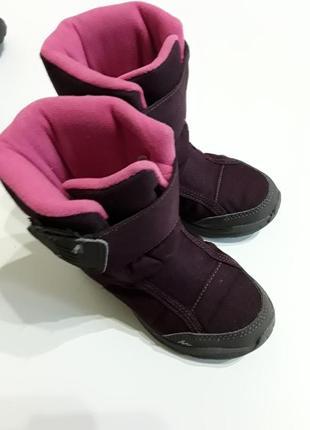 Фирменные термосапожки водонепроницаемые термо ботинки 26р.
