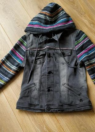 Harlem.теплая джинсовая куртка с капюшоном.идеальна для осени🍁🍂