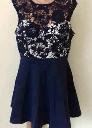 Шикарное кружевное платье большого размера lipsy