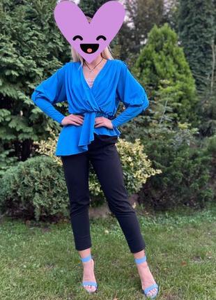 Блуза h&m синяя