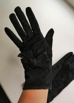 Замшевые перчатки натуральная, мягкая замша