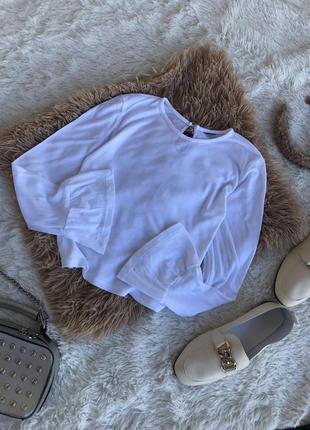 Білий топ топік світшот футболка кофта білосніжна трендова