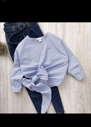 Блуза h&m на завязках