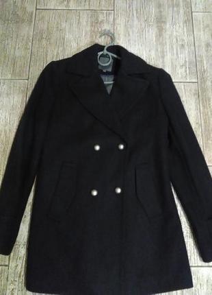 Пальто,короткое,двубортное,бойфренд, шерстяное,жакет, пиджак,куртка
