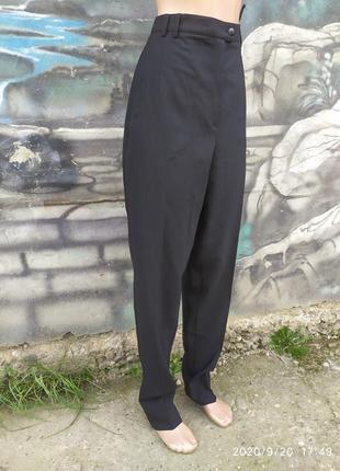 Штаны высокая посадка 45%шкрст шерстяные,высокий рост,helline