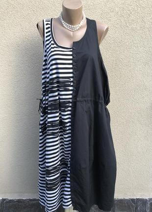 Комбинированное платье сарафан,в стиле rundholz,annette gertz,oska,