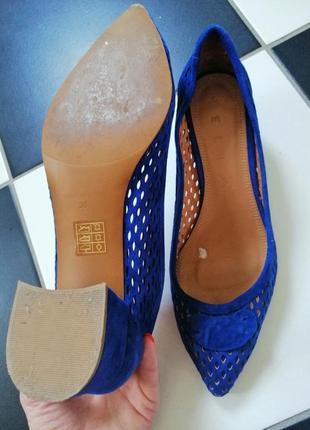 Замшевые кожаные итальянские туфли