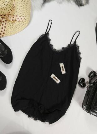 Майка блуза чёрная