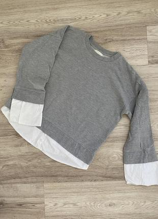 Кофта с рубашкой,свитшот