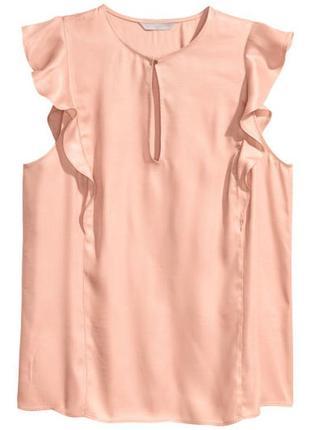H&m, блузка без рукавов с оборками