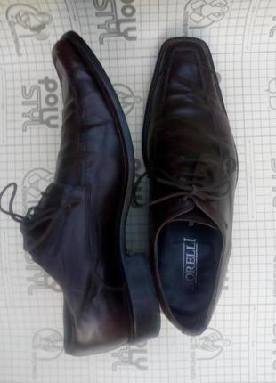 Туфли мужские кожа оригинал borelli 42 размер