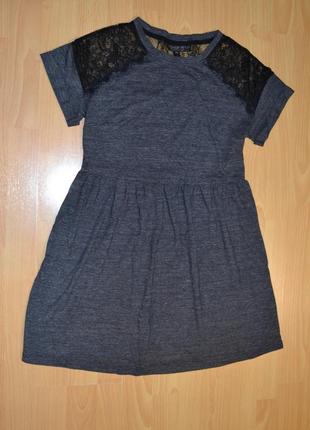 Классное платьице с кружевом