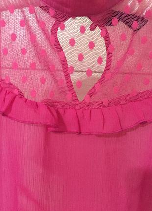 Шифоновая блуза малиновая от h&m