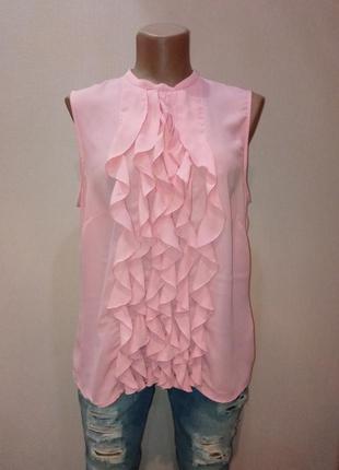 H&m,  нарядная блузка без рукавов с рюшами