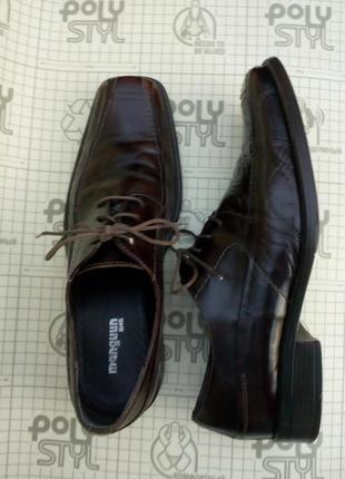 Туфли manguun men бордовые на шнуровке кожа 41 размер