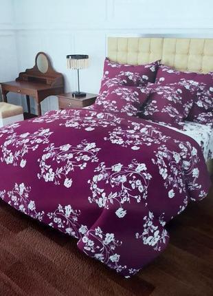 Постельные комплекты из бязи - цветы на фиолетовом, все размеры, быстрая отправка