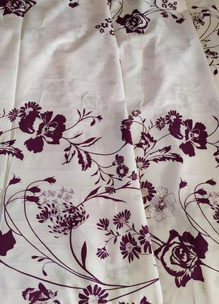 Простыни на резинке из плотной бязи - цветы на белом, все размеры, быстрая отправка