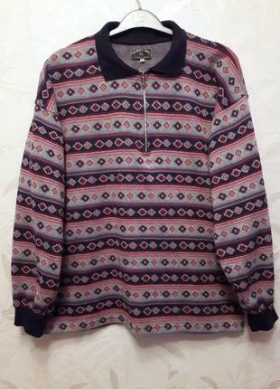 Тёплый, уютный свитер, поло, 54-56-58?, хлопок, полиэстер, columbus active