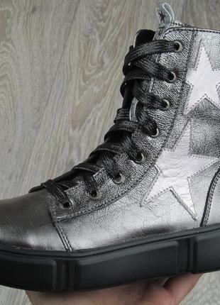 Супермодные высокие ботинки из натуральной кожи для девочек 31--40 размер