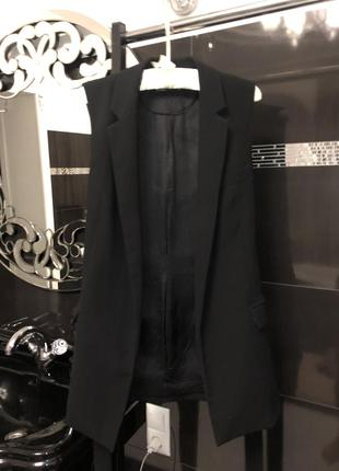 Пиджак без рукавов удлиненный