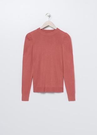 Новая однотонная коралловая кофта красный джемпер цвет румяна свитер польша xs s m l