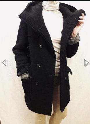 Чёрное фактурное пальто от imperial 🎊