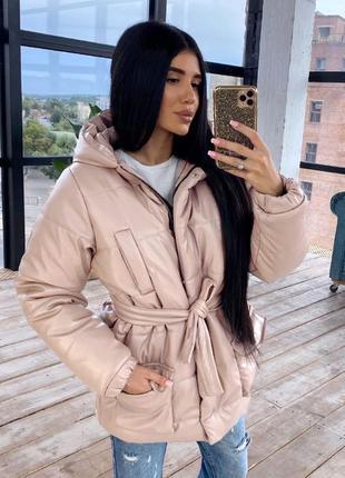 Трендовая курточка из эко-кожи🖤куртка😻