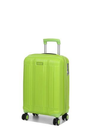 "Ультралегкий французский чемодан  из полипропилена на 4-х колесах ""airtex "" 637 s green"
