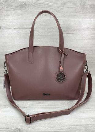Молодежная женская сумка «сью» в лиловом цвете из экокожи высокого качества