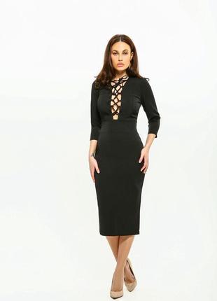 Платье женское aniti со шнуровкой миди 100
