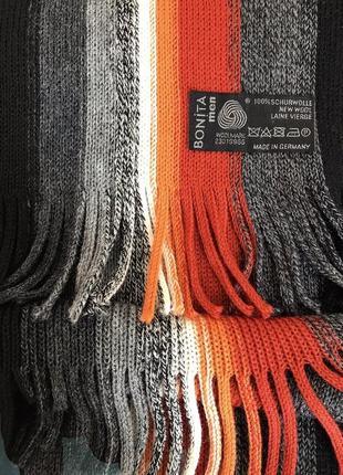 Качественный ♥️♥️♥️ шерстяной шарф из шерсти ягнёнка bonita.