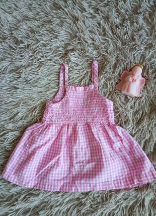 Розовый сарафанчик на бретельках для маленькой принцессы