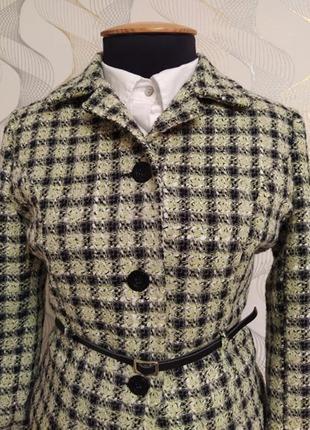 Пиджак,жакет,клетка,с ремешком,шерсть,англия