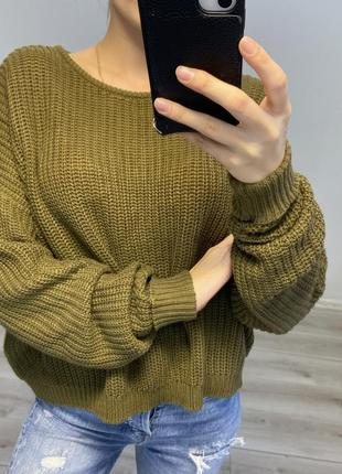 Вязаная кофта свитер