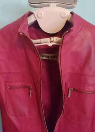 Куртка кожа. pink/ германия
