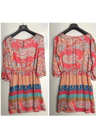 Etro лёгкие платье короткое с цветным принтом пейсли цветное