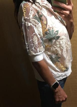Красивая прозрачная блузка zara